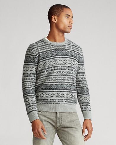 Pullover aus Baumwollmischung mit Fair-Isle-Muster