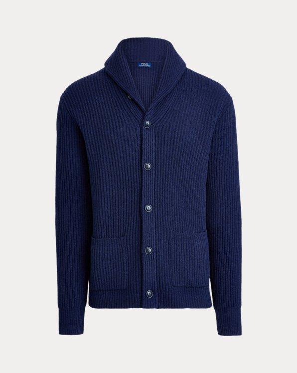 Cárdigan de lana con cuello chal