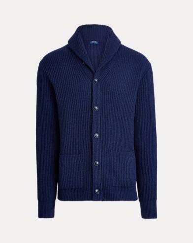 Wool Shawl-Collar Cardigan