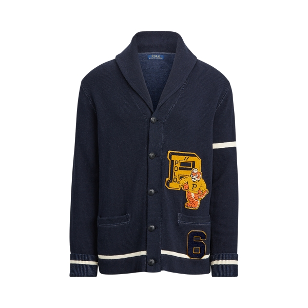폴로 랄프로렌 Polo Ralph Lauren The Tiger Cardigan,헌터 Hunter Navy/Andover Cream