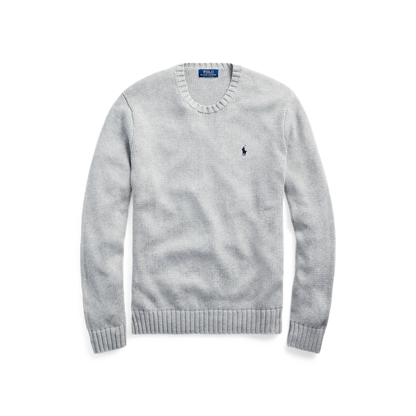 폴로 랄프로렌 Polo Ralph Lauren Iconic Cotton Crewneck Sweater,Andover Heather