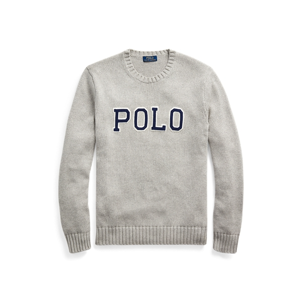 폴로 랄프로렌 Polo Ralph Lauren Logo Crewneck Sweater,Andover Heather