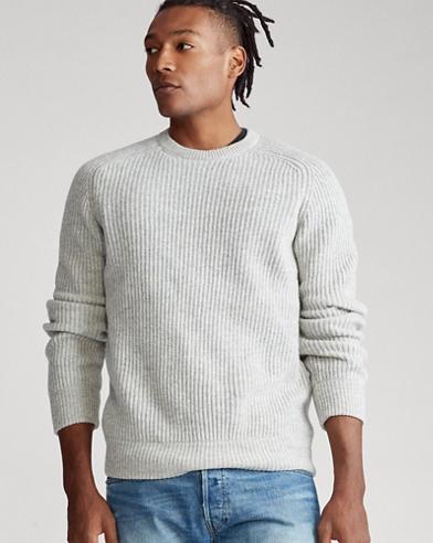 Wool Raglan Crewneck Sweater