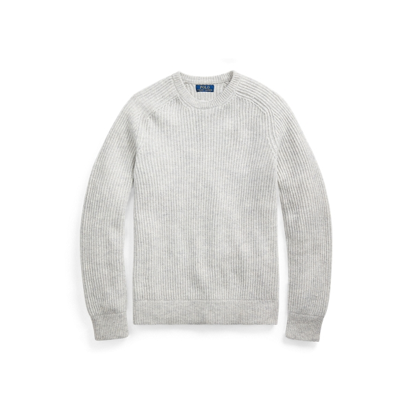 폴로 랄프로렌 Polo Ralph Lauren Wool Raglan Crewneck Sweater,Light Grey Heather