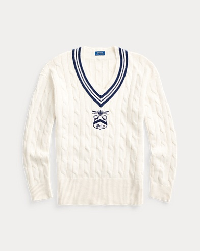 Embroidered Cricket Sweater