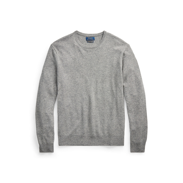 폴로 랄프로렌 Polo Ralph Lauren Washable Cashmere Sweater,Fawn Grey Heather