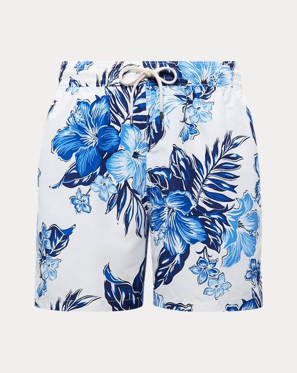 폴로 랄프로렌 Polo Ralph Lauren 5½-Inch Traveler Swim Trunk,Rl Vintage Hibiscus Blue