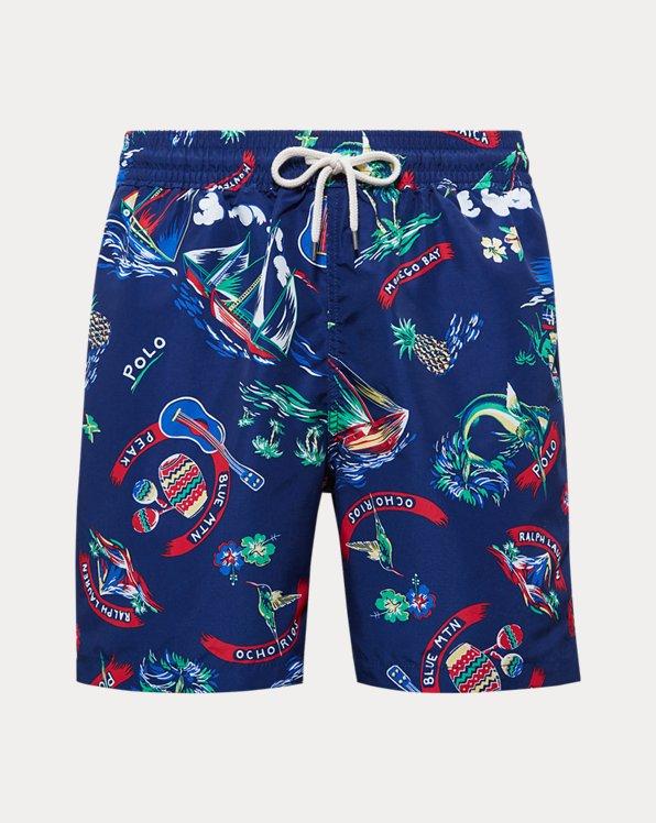 폴로 랄프로렌 Polo Ralph Lauren 5½-Inch Traveler Swim Trunk,Ralph-waiian