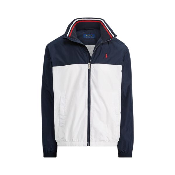 폴로 랄프로렌 Polo Ralph Lauren Color-Blocked Jacket,Aviator Navy/ Pure White