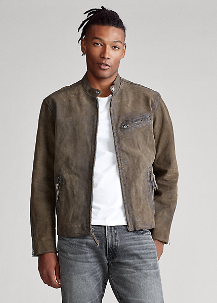 Polo Ralph Lauren Suede Cafe Racer Jacket