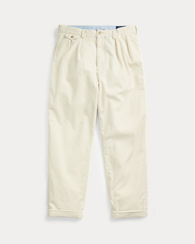 Pleated Baggy Corduroy Trouser