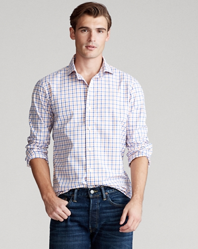 Classic Fit Plaid Shirt