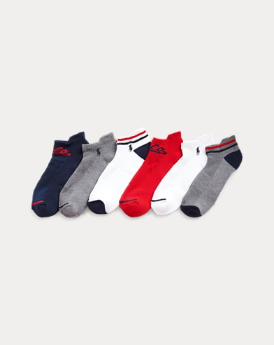 6-Pair Polo Ralph Lauren Men's Socks (Low-Cut or Ankle)