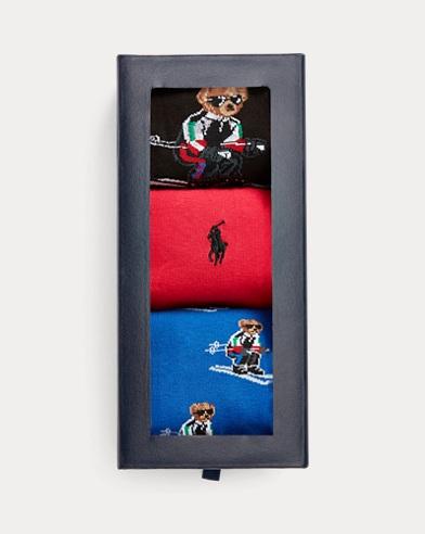 Ski Bear Dress Sock Gift Set