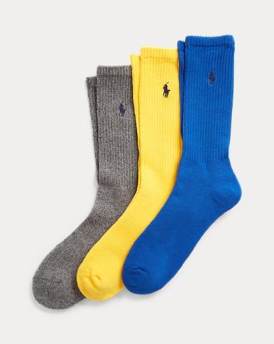 Ribbed Crew Sock 3-Pack
