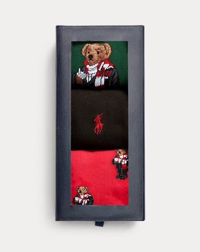 Holiday Bear Sock Gift Set