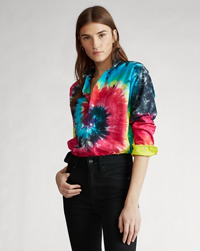 Tie-Dyed Oxford Shirt