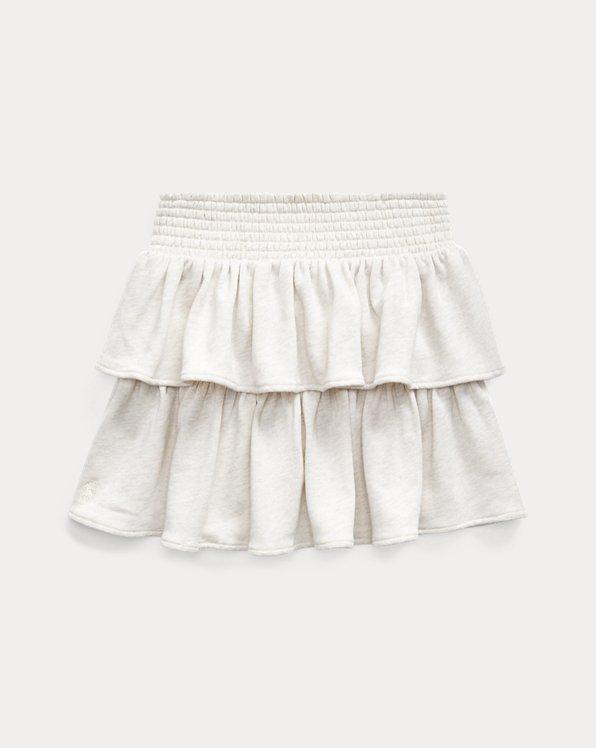 폴로 랄프로렌 Polo Ralph Lauren Ruffled Atlantic Terry Skirt,Cream Heather