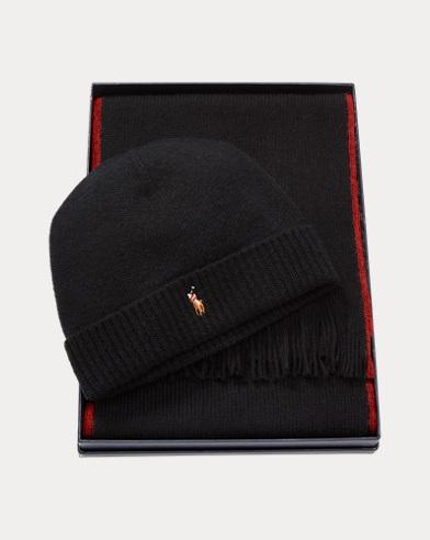 Set regalo sciarpa e cappellino in lana