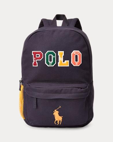 Logo-Rucksack aus Baumwollsegeltuch