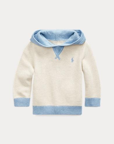 Cotton Zip-Back Sweater