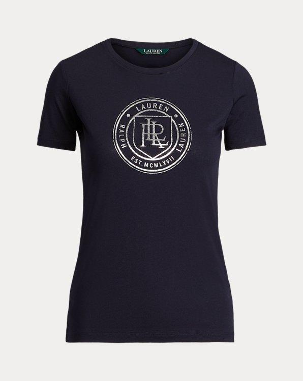 T-shirt à écusson en coton mélangé