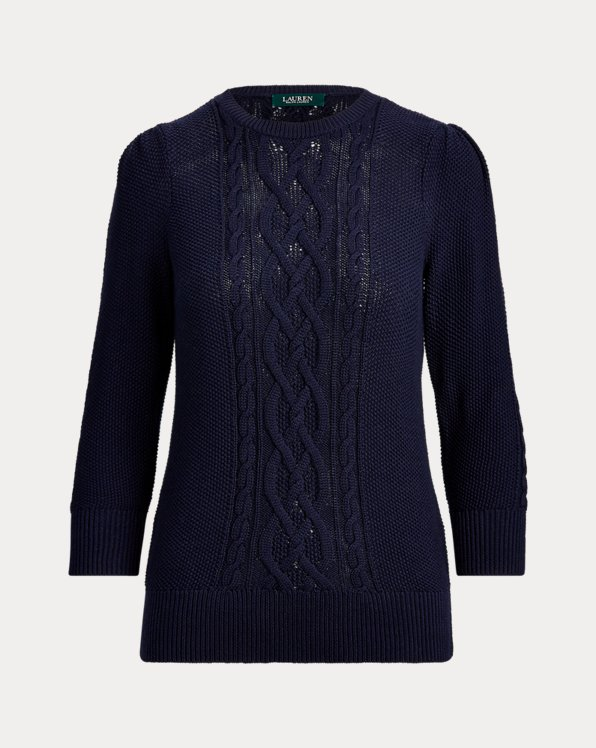 Puff-Sleeve Cable Jumper