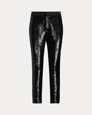 Sequined Cropped Trouser