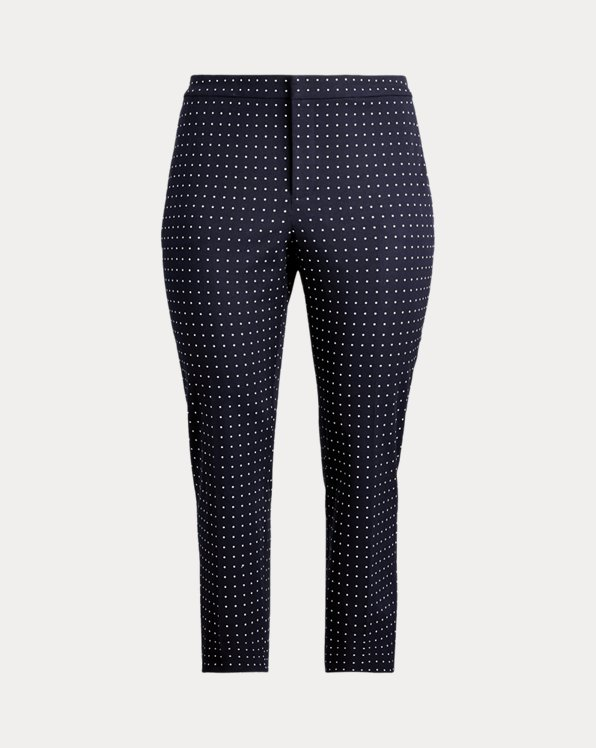 Polka-Dot Stretch Twill Trouser