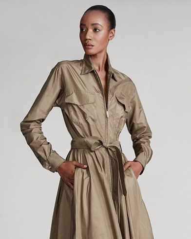 Cambria Silk Safari Shirtdress