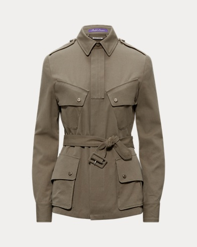 Lydie Belted Canvas Jacket