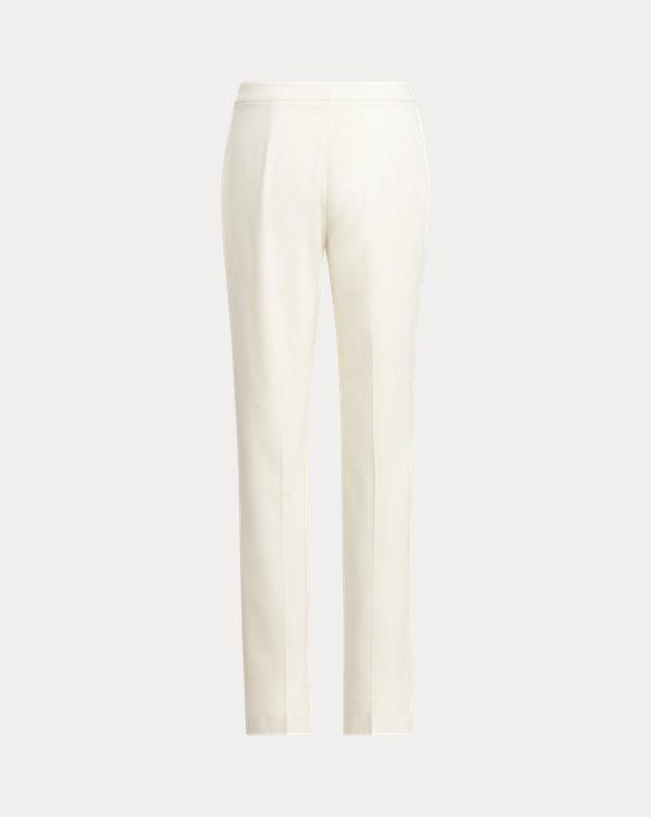 Pantalones de crepé de lana Seth