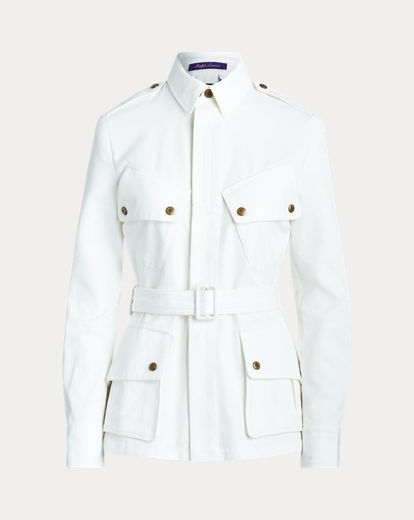 Lydie Belted Canvas Jacket