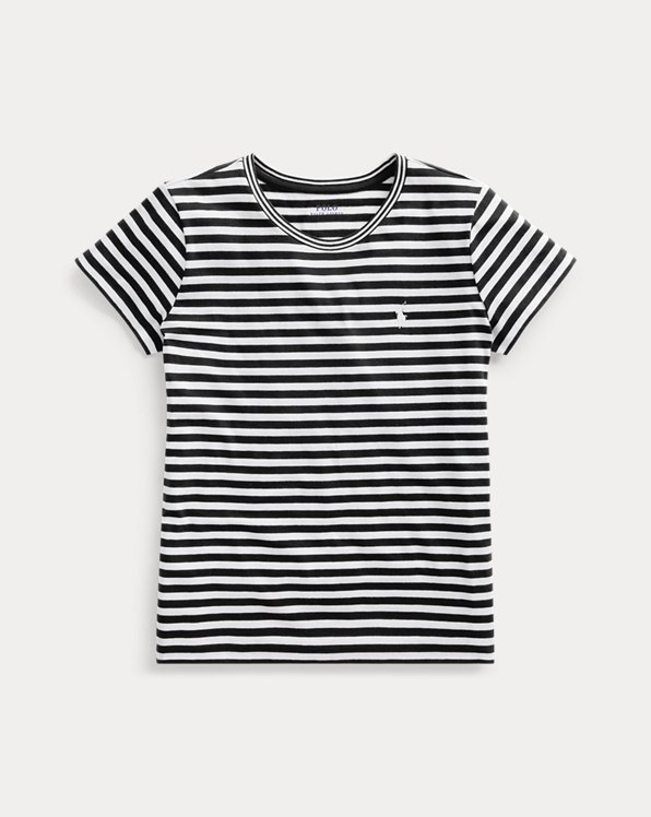 Gestreiftes Rundhals-T-Shirt