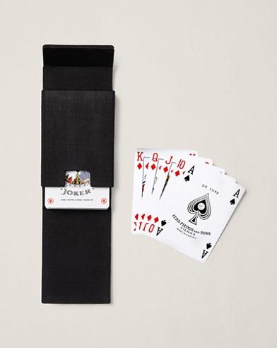 Spielkartenset mit Baumwolletui und Totenkopf