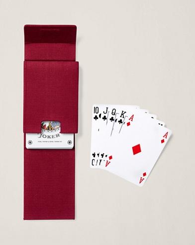 Spielkartenset mit Baumwolletui und Flagge