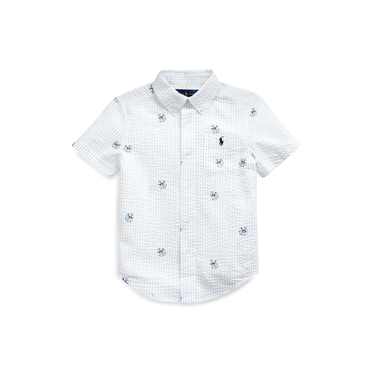 Anchor Print Seersucker Shirt