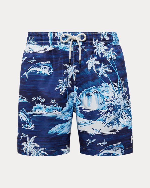 Bañador bermuda Traveler de diseño tropical