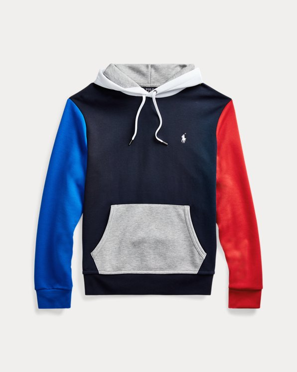 Colour-Blocked Logo Hoodie