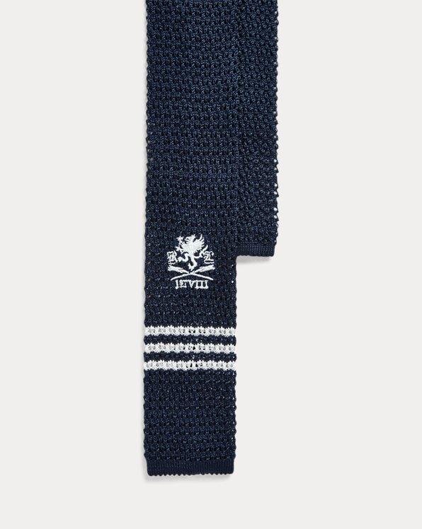 Graphic Knit Silk Tie