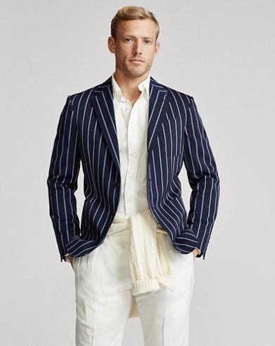 Blazer in lana a righe