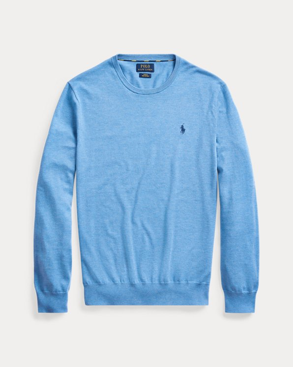 Jersey de algodón de cuello redondo
