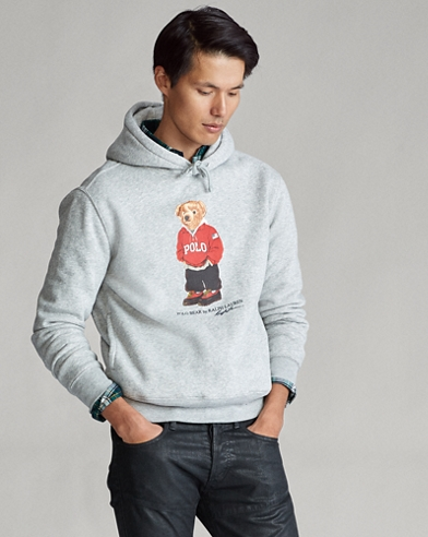 Fleece-Pullover mit Polo Bear