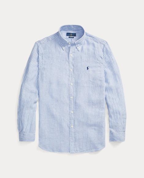 Custom Fit Striped Linen Shirt