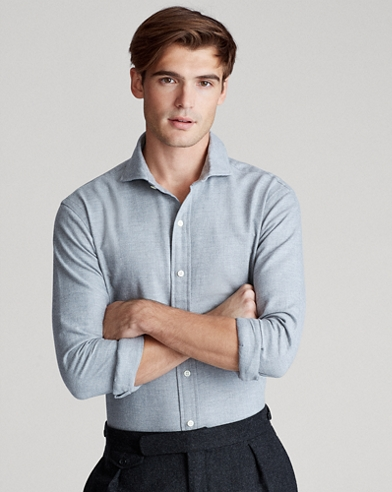 Slim Fit Brushed Twill Shirt