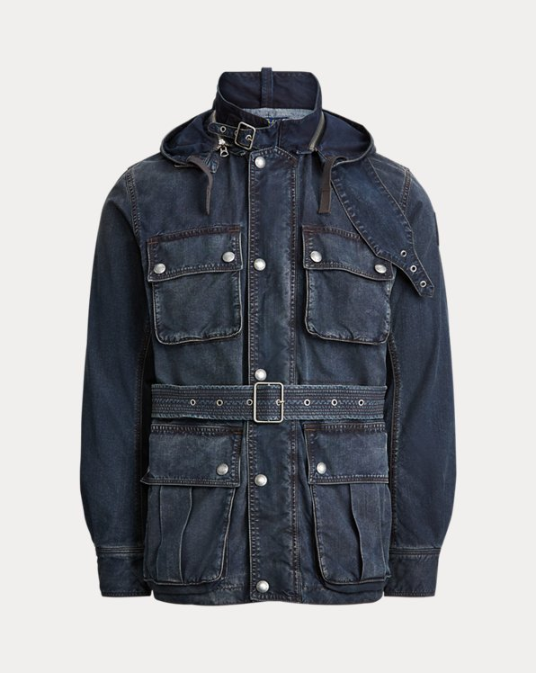 Veste en denim d'inspiration marine