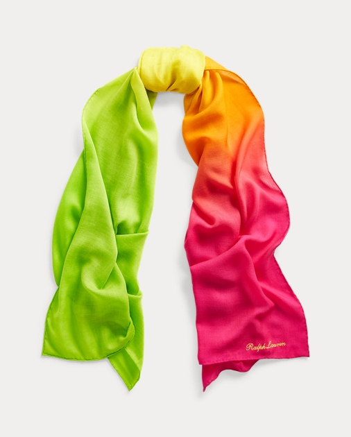 Ombré Cashmere Silk Scarf by Ralph Lauren
