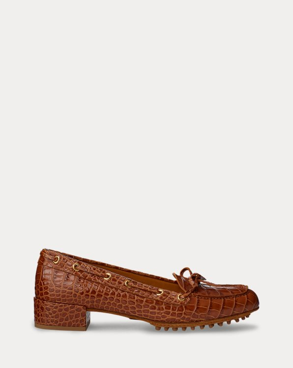 Lyssa Embossed Calfskin Loafer