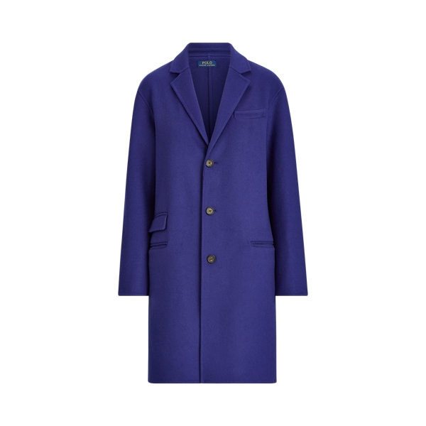 폴로 랄프로렌 Polo Ralph Lauren Double-Faced Wool-Blend Coat,Fall Royal