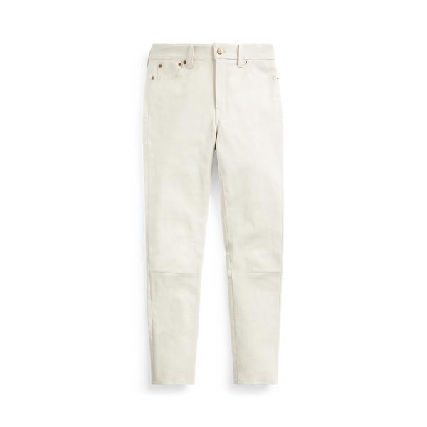 폴로 랄프로렌 레깅스 Polo Ralph Lauren Leather Legging,Warm White